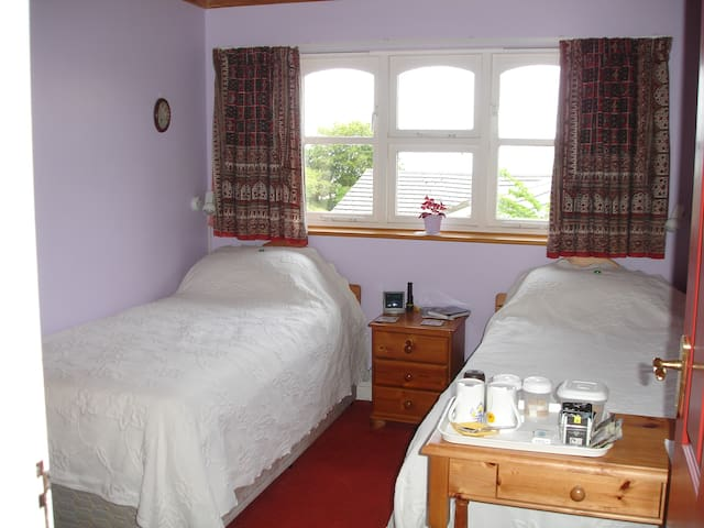 Twin room with view of Bideford Bay
