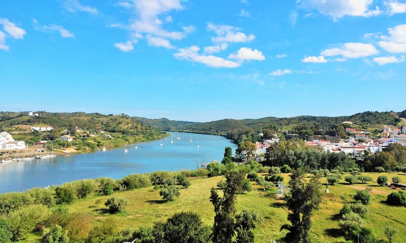 Alcoutim, on the banks of the River Guadiana the border with Spain.