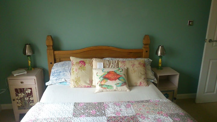 A lovely  double room with small en suite