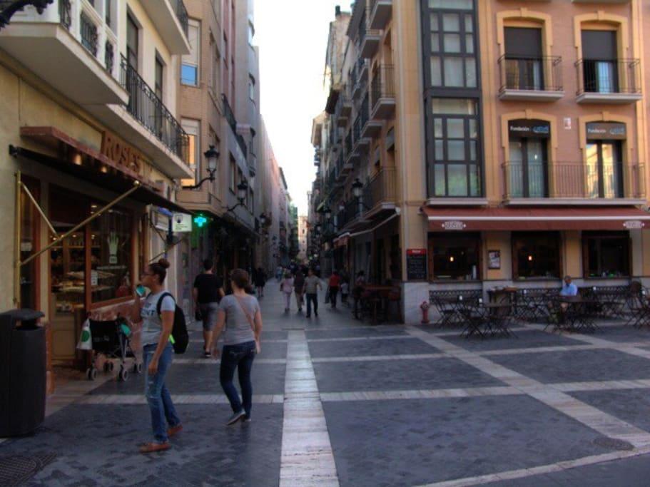 Murcia, calle Traperia, realizada en 1266 por Jaime I El Conquistador para separar cristianos y musulmanes