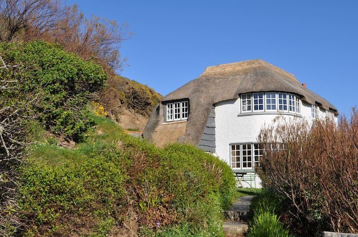 Large character thatch cottage - Crackington Haven - House