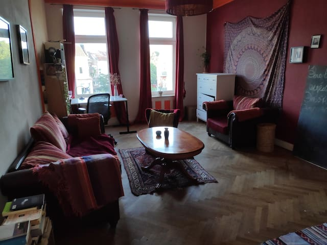 Großes und gemütliches Zimmer am Schrevenpark