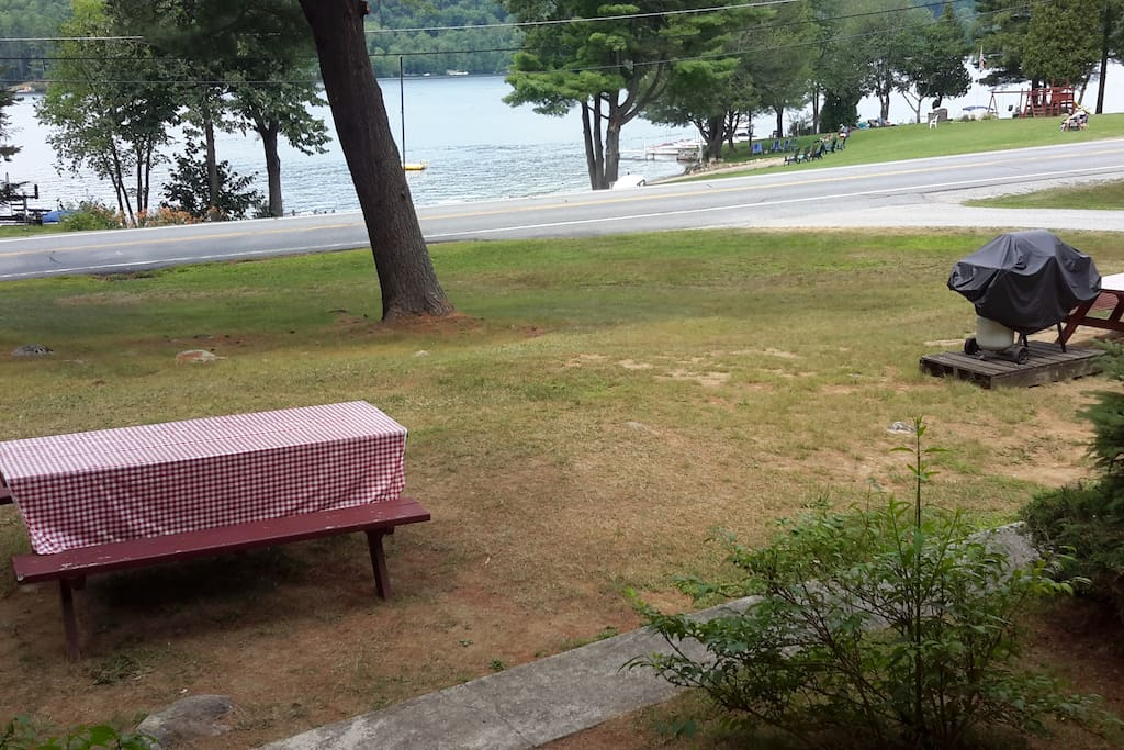 View of the lake from the front porch