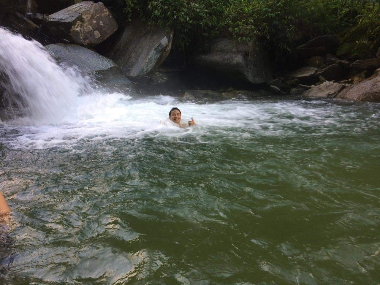 Châng Stream that is very close to my hagiangfaithien homestay. The water is very clean. You can swim all the day without paying money