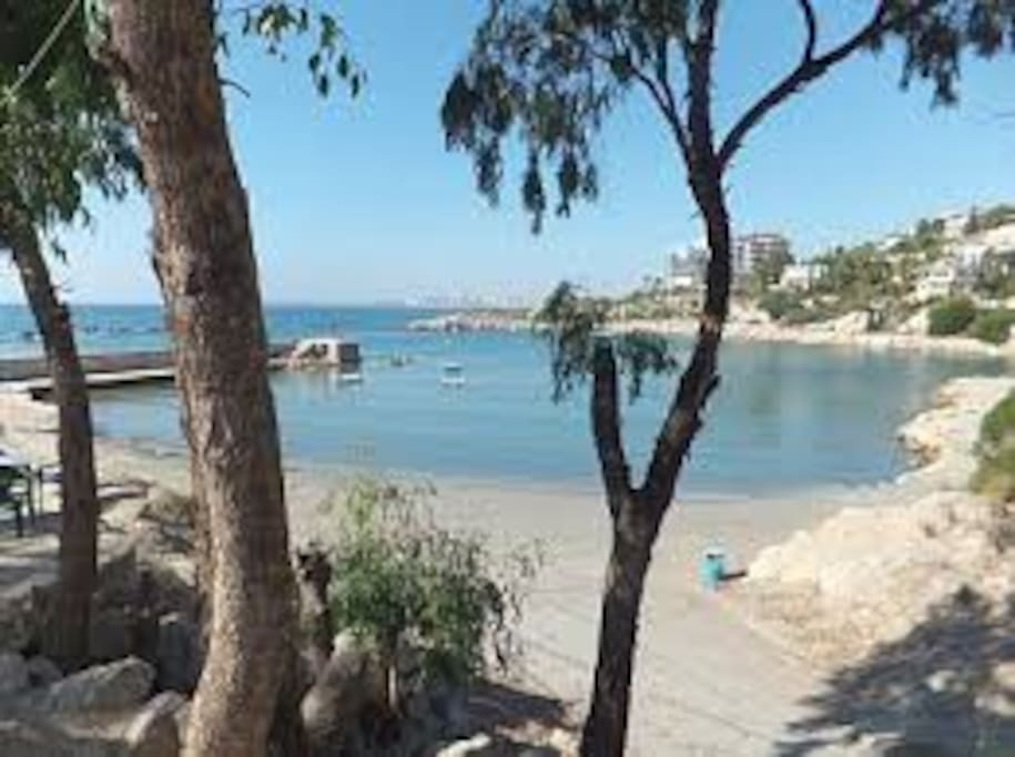 next to the apt. Coveta Fuma cove beach from 'Thomas'  [chiringuito] bar