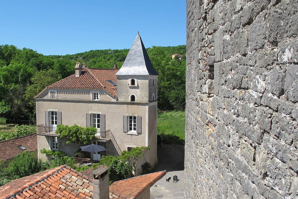 View of the house from the 13th & 14th century Borie or castle.