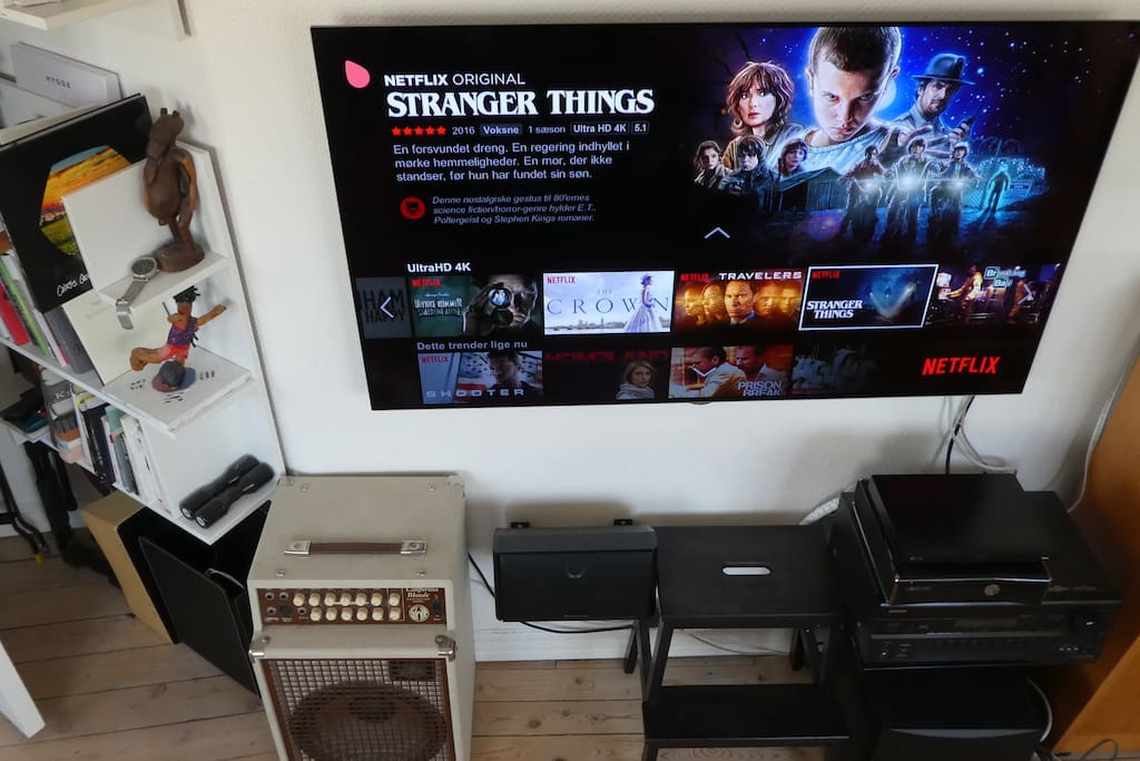 """Recent upgrade: A 4K 55"""" OLED TV. With 4K Netflix. And awesome surround sound."""