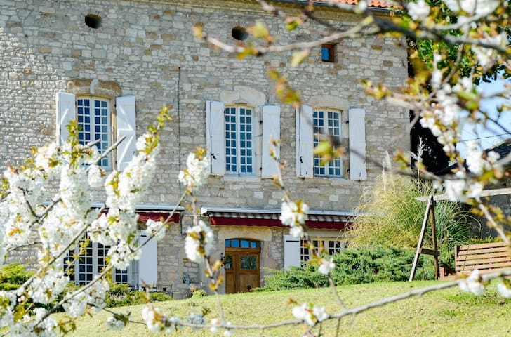 Les Anglades  -  ROOM - TOPAZE ROSE - Castelnau-de-Montmiral - Bed & Breakfast