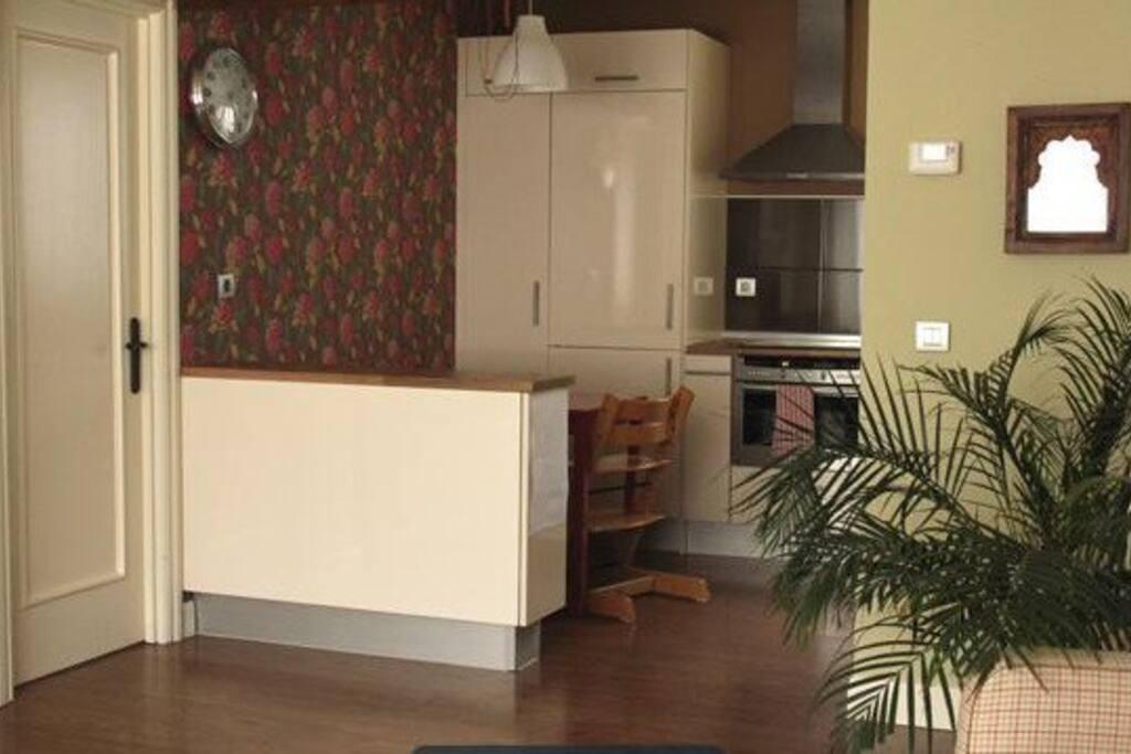Cocina a salón / Open kitchen