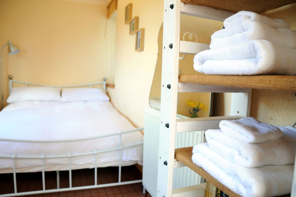 Towels, hairdryer and other essentials provided.