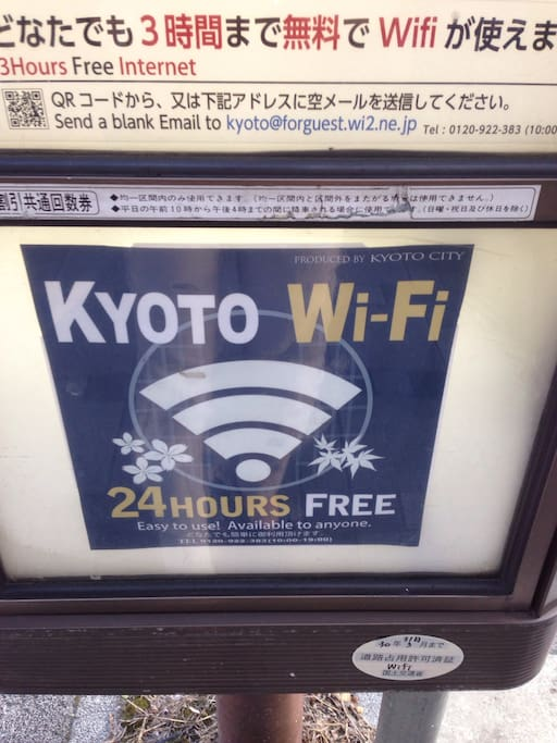 almost every bus stop has wi-fi.