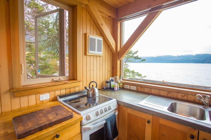 Cooking with a nice ocean view!