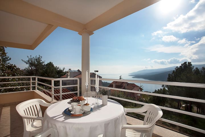 App Agava lovely & great sea view - Rabac - Hus