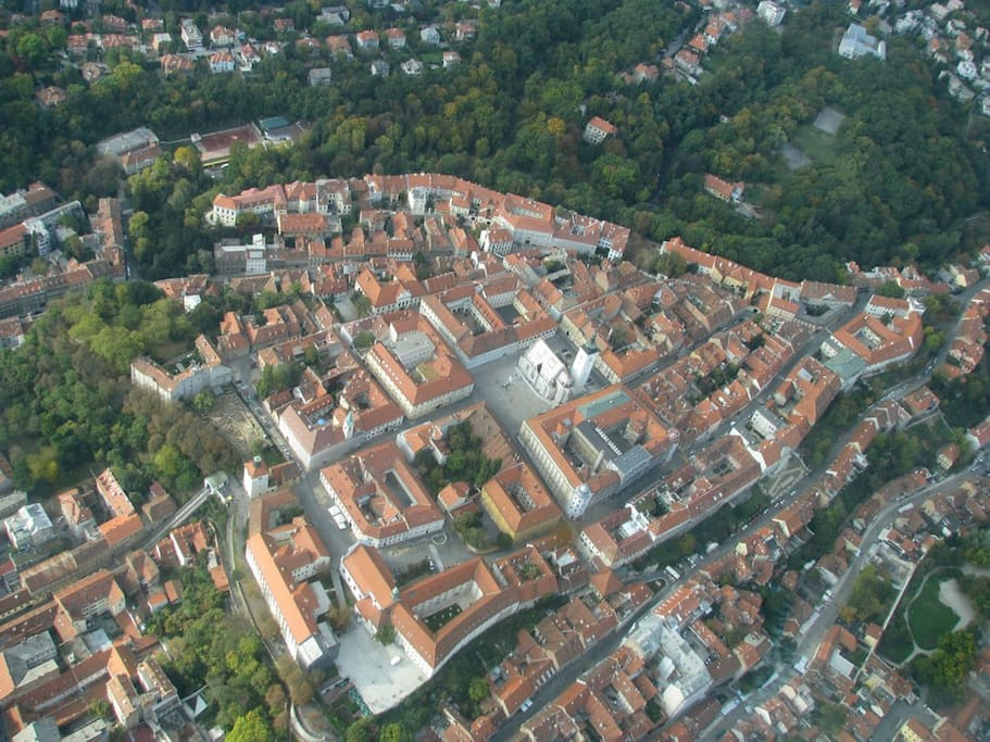 Our apartment from the air - heart of Zagreb!