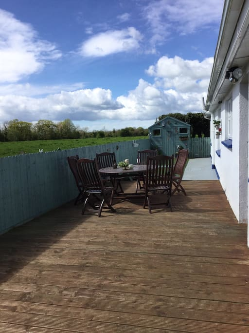 Outside seating area decking