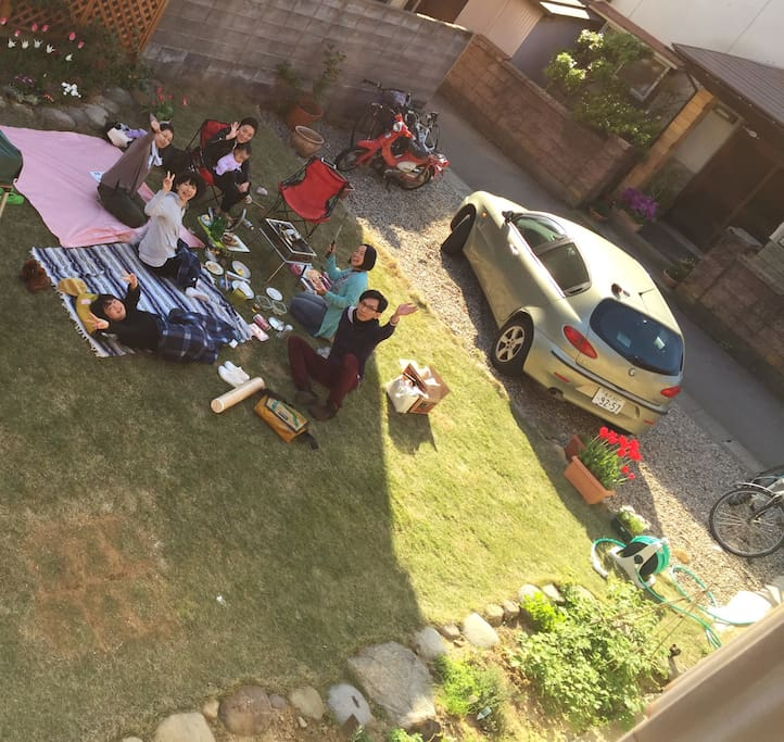 Lawn from above. You're welcome to hang out and barbecue!