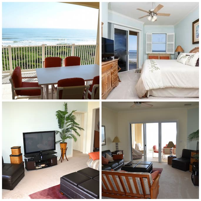 Spacious Beach Front Condo with Great Views