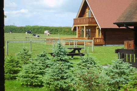Superb chalet on working dairy farm in Dorset - Gillingham - Alpstuga