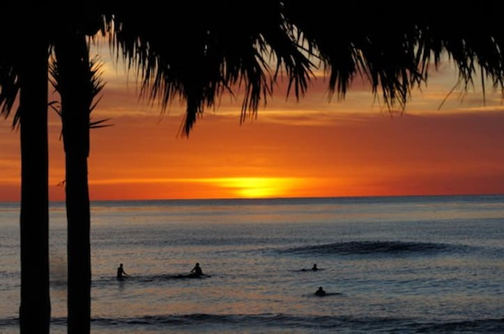 Surfers & Swimmers Paradise, beautiful sunsets, sparkling waters