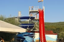Water slides with sea water