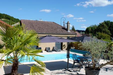 Vakantiehuis in Champagnestreek met privé zwembad - Couvignon