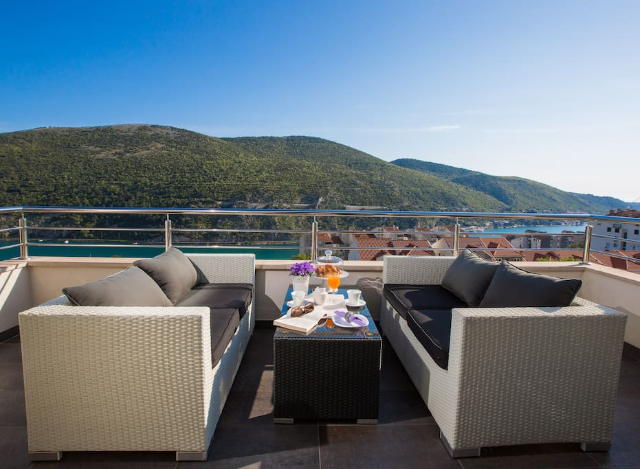 terrace with an amazing view