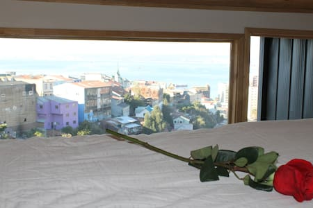Romantic room with view to the sea