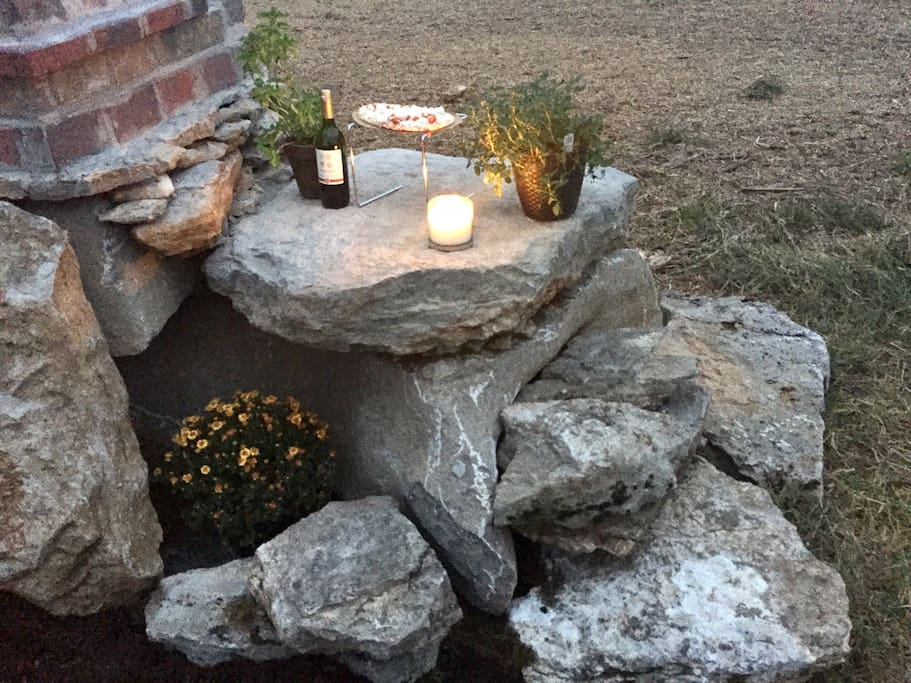natural stone top pizza oven // cook anything you'd like!