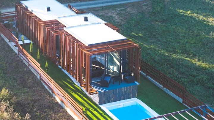 Corten House & Pool