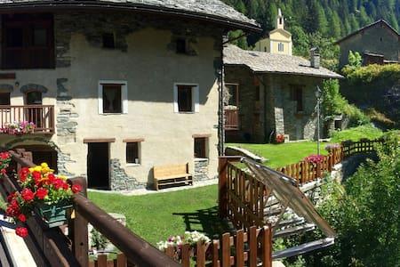 Rustico con tipica Taverna - Valgrisenche - Wohnung