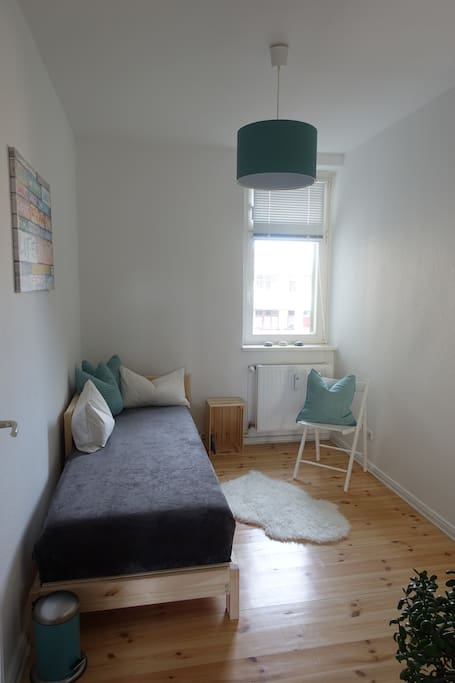 Guestroom, bed is extendible and has two mattresses (each 80x200cm)