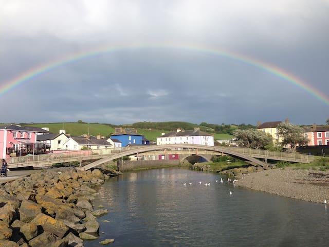 Glamping with outdoor baths,  Cardigan Bay, Wales, - Ciliau Aeron - Chatka