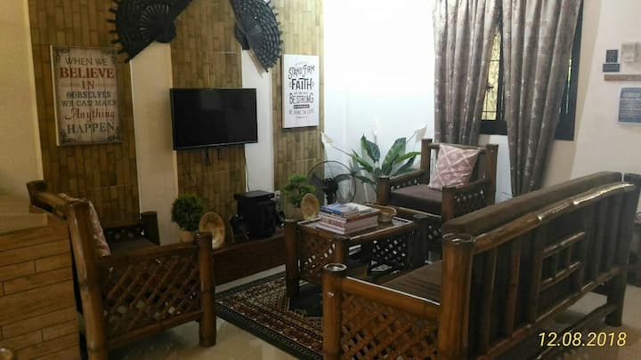 A Filipino Rustic Style Duplex in Cavite (UNIT A)
