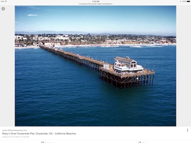Oceanside Pier with Ruby's Diner