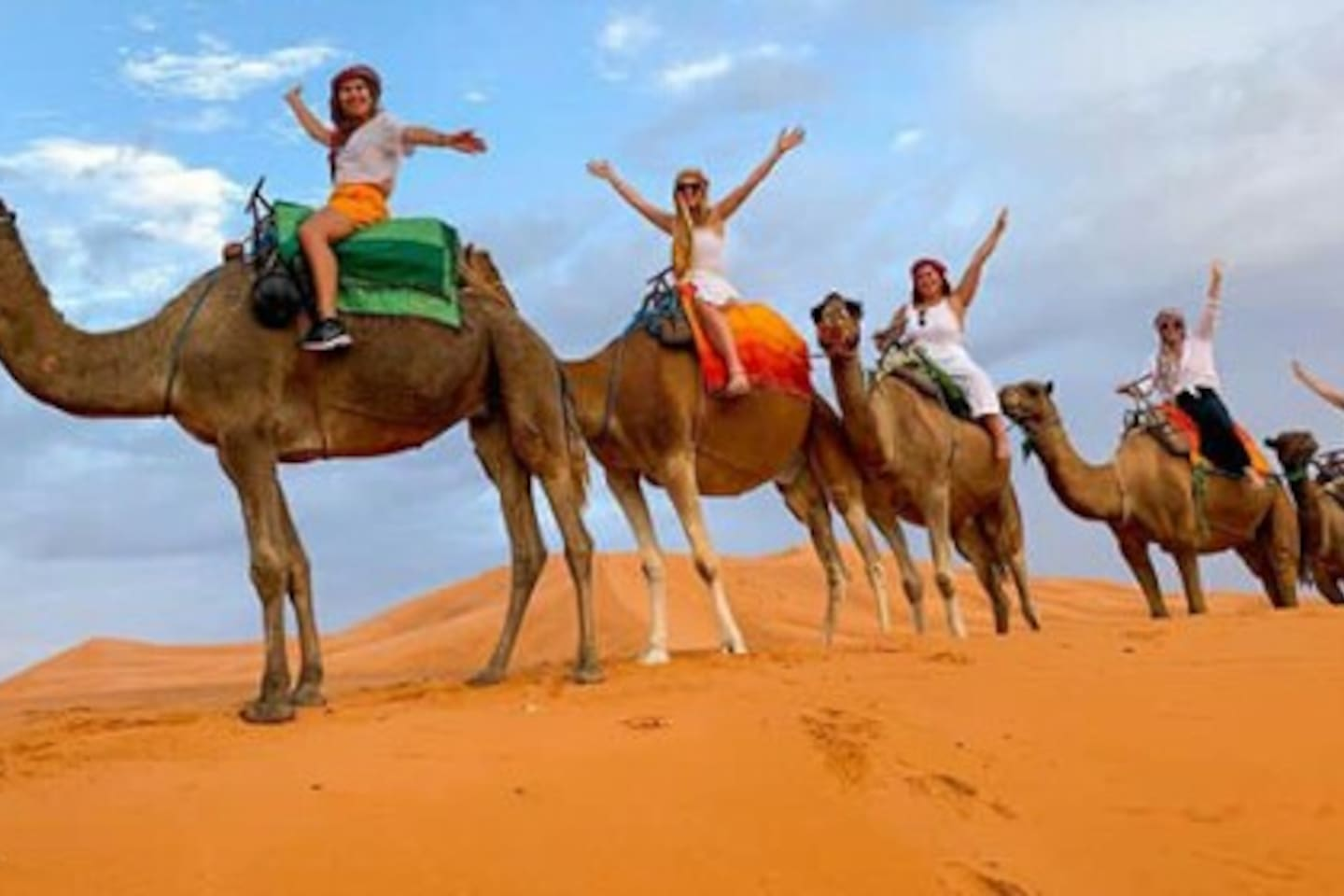 Don't worry about riding the camels