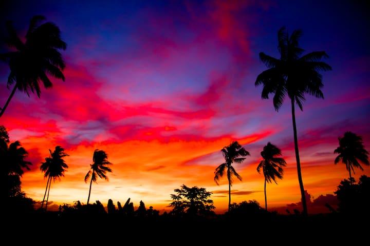 Takubar sunset