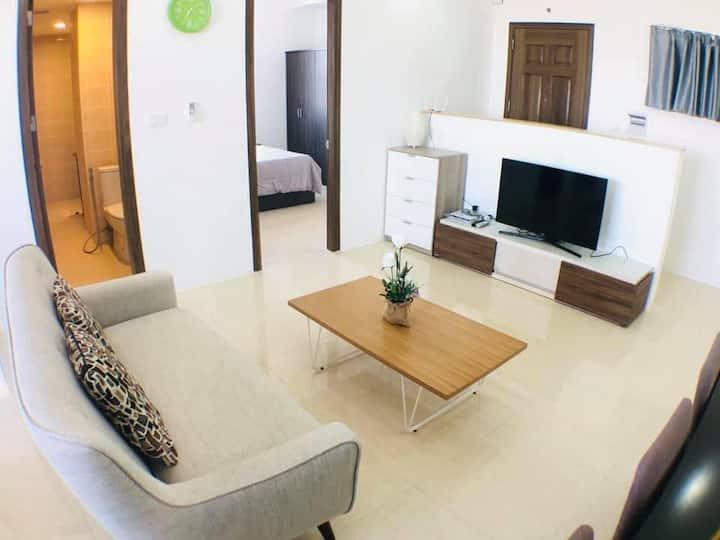 Two-bedroom Condo Unit on 21st Floor - City View