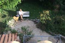 le coin jardin vu de la terrasse