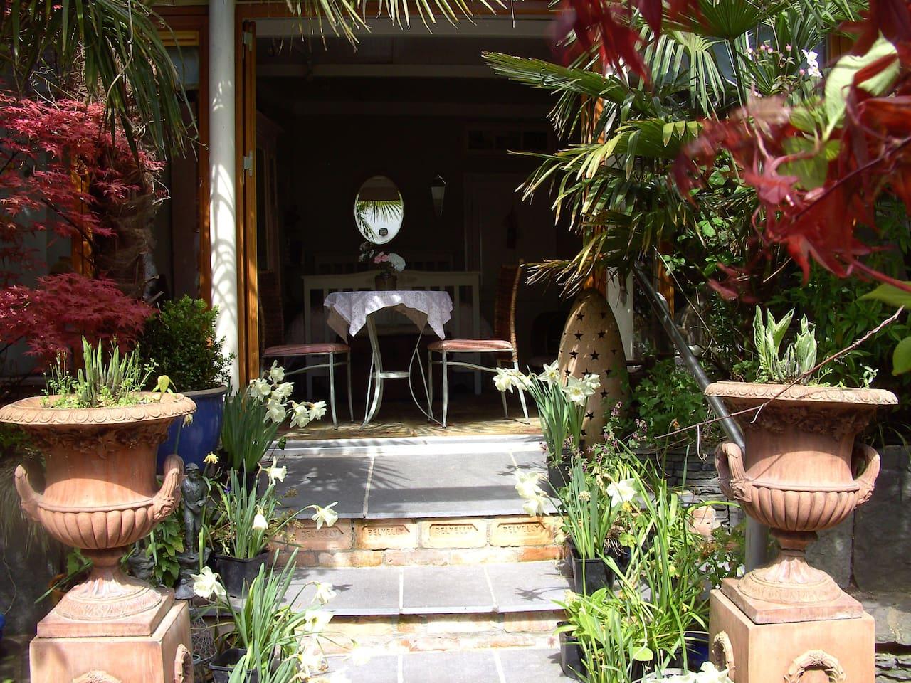 Garden Studio Apartment from courtyard