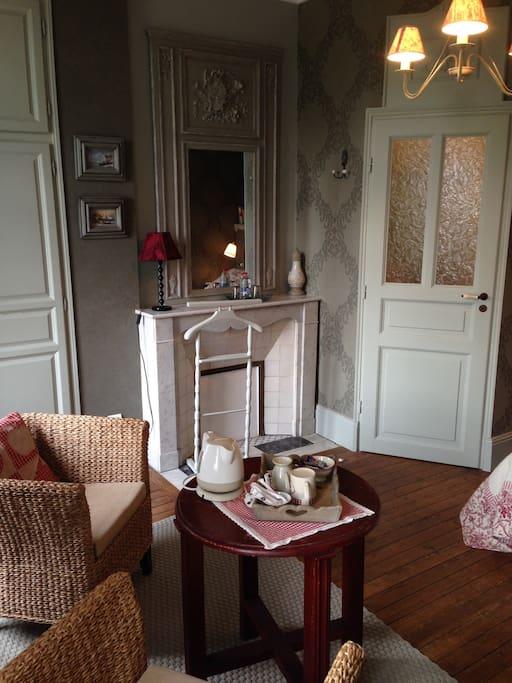 Un coin salon pour prendre le thé