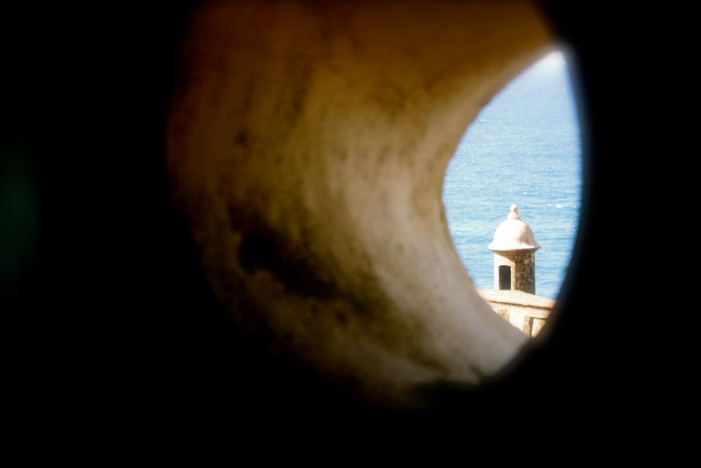 The porthole view to the ocean