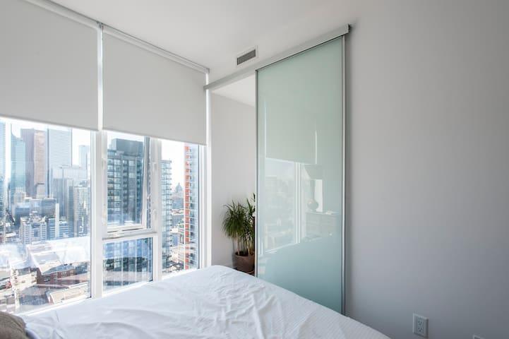 Master bedroom sliding door