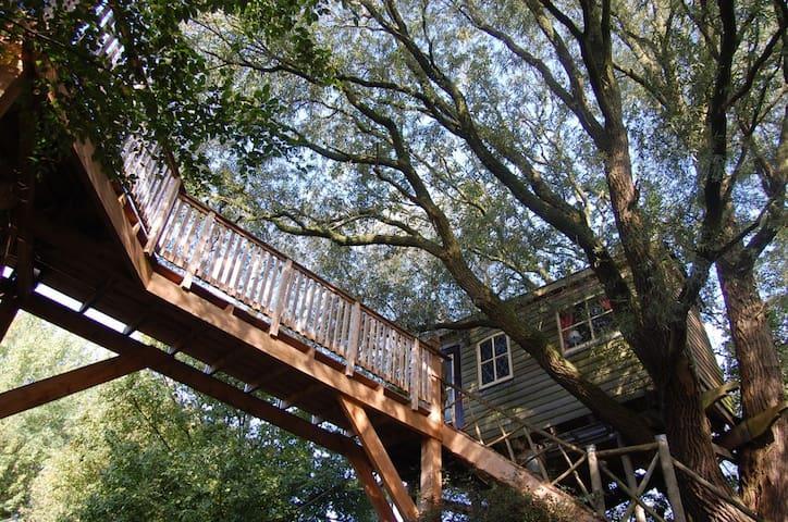 Boomhut (Treehouse) Uilenspiegel  Stilte plek! - Easterein - Ağaç Ev