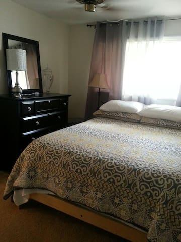 queen bedded second bedroom