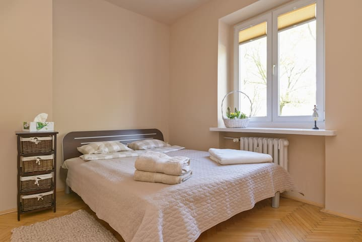 Cosy apartment in Poznan 3min to Old Town +parking - Poznań - Appartement