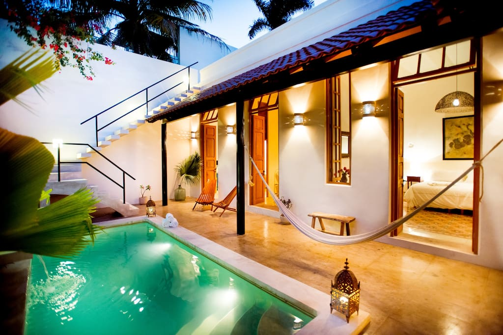 The Pool and Bedroom wing