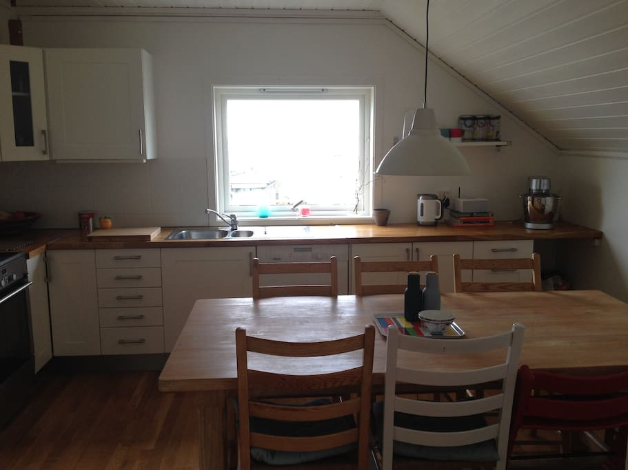 kitchen with a view over the fjord