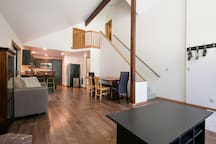 Open floor plan for the main room of the house