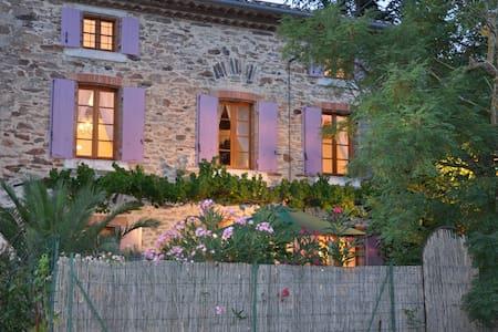 Traditional stone village house  - Brousses-et-Villaret - Casa