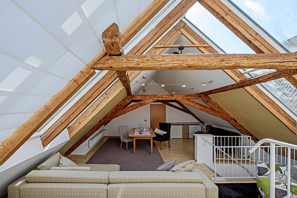 Top main loft mit 60qm dachterrasse lofts for rent in ha furt bayern germany - Prix surelevation maison ...